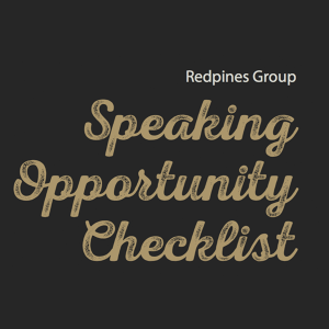 Speaking Opportunity Checklist