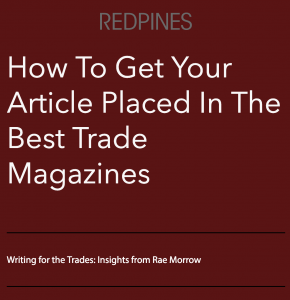 How To Get Your Article Published In The Best Trade Magazines